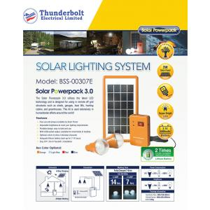 T-BOLT SOLAR HOME LIGHTING SYSTEM - BSS-00307E