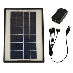 THUNDERBOLT SOLAR MOBILE PHONE CHARGER - 5 IN1 - SR-C3W