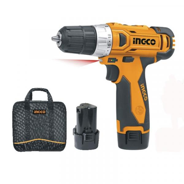 INGCO LI-ION CORDLESS DRILL WITH BATTERY PACK - 12V