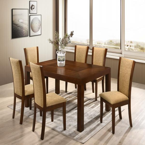 RADIAN 6 SEATER DINING TABLE SET - STARMORE