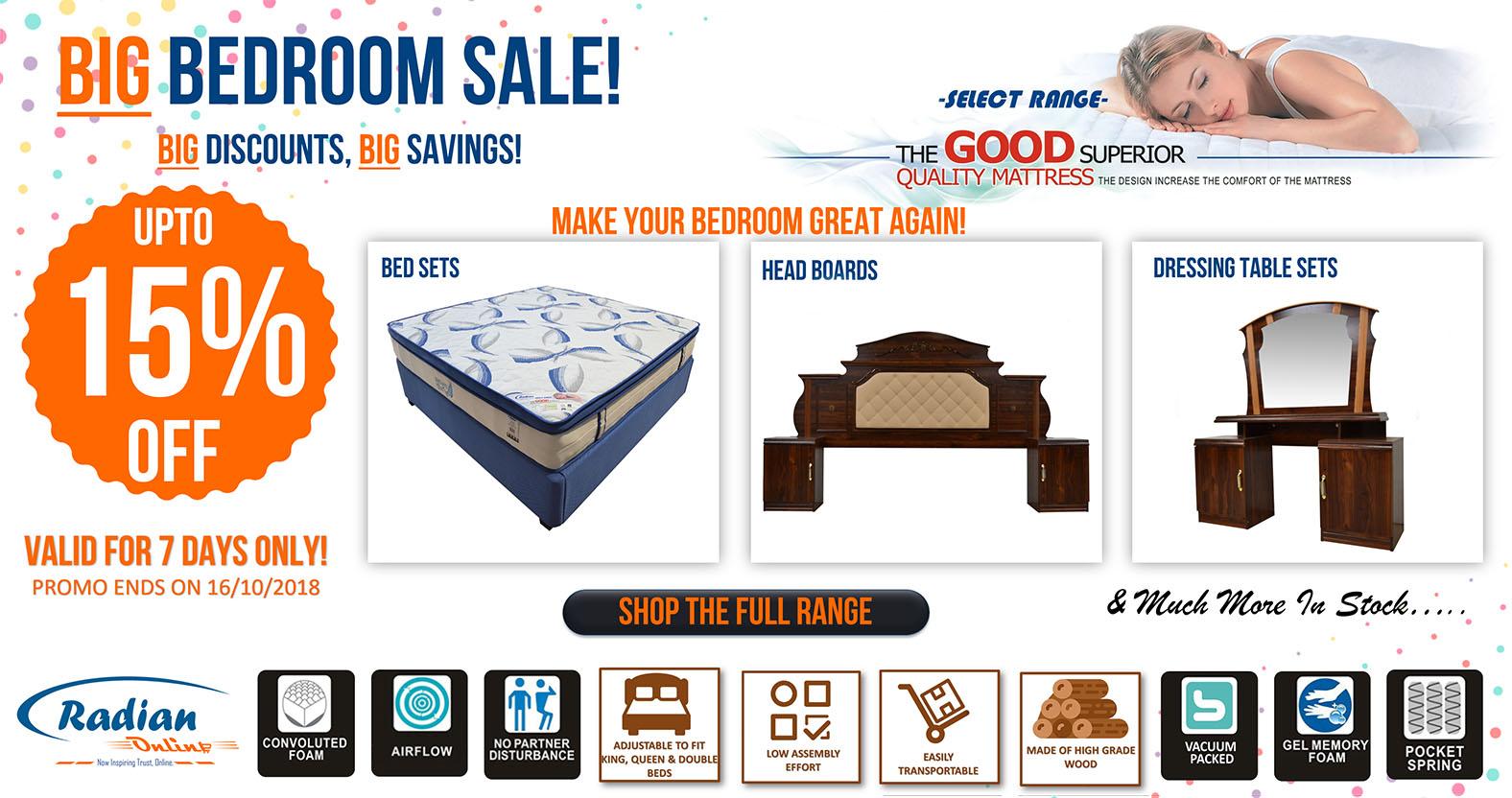 Big Bedroom Sale